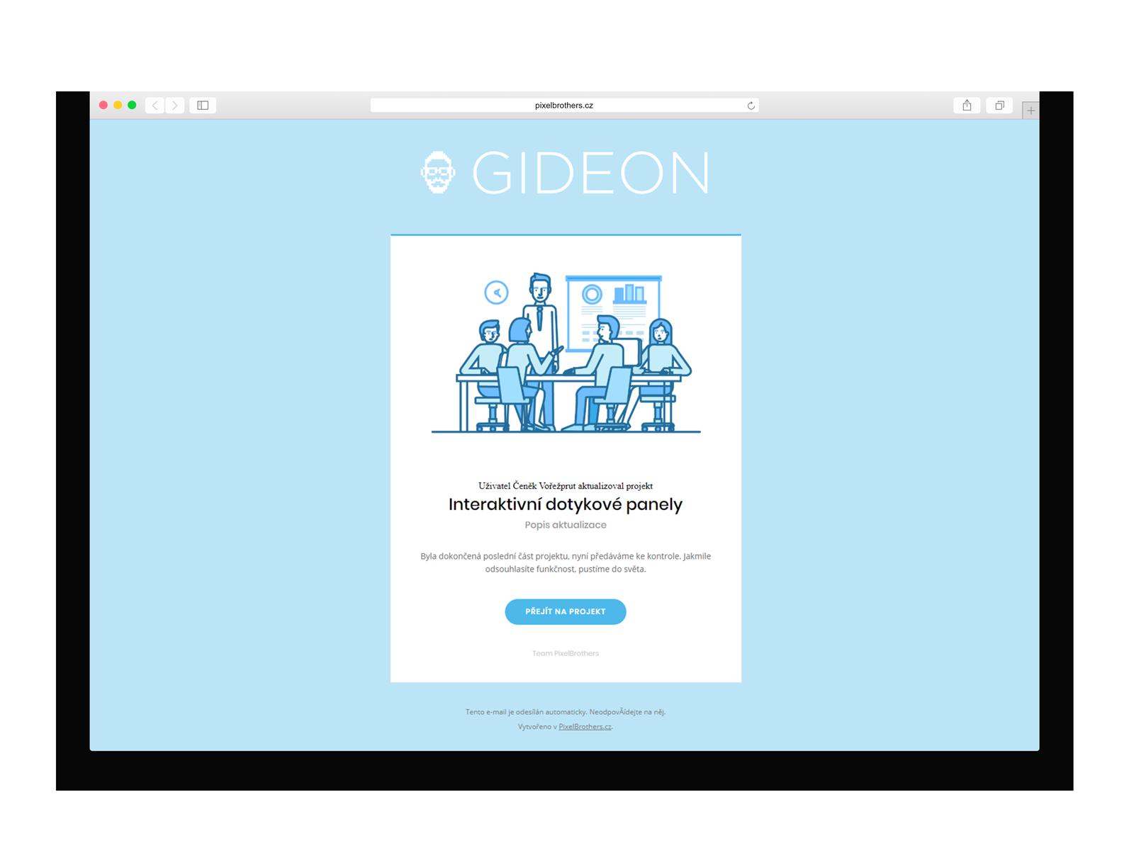 CRM Gideon - Šablony e-mailových notifikací
