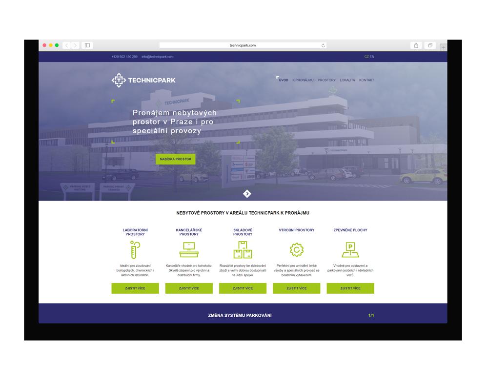 Webová stránka Technicpark
